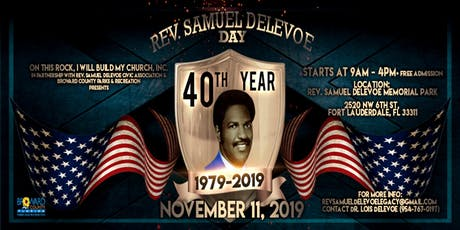 Rev Samuel Delevoe Day - 40th Anniversary Celebration tickets