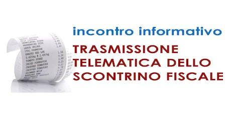 Incontri trasmissione telematica scontrino fiscale - Maniago biglietti