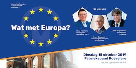 Wat met Europa? - event Marnixring Roeselare Adriaen Willaert tickets