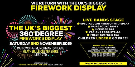 The UK's Biggest 360 Fireworks Display 2019