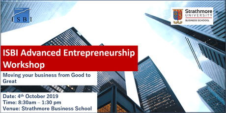"Entrepreneurship Workshop: ""Moving your Business from Good to Great"" tickets"