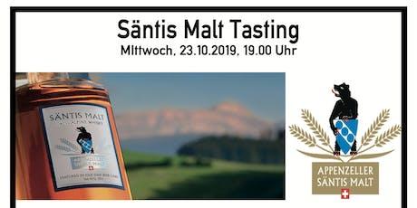 Exklusives Säntis Malt Tasting Mittwoch, 23.10.2019, 19.00 Uhr Tickets