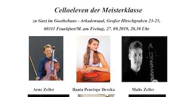 Celloeleven der Meisterklasse zu Gast im Goethehaus - Arkadensaal