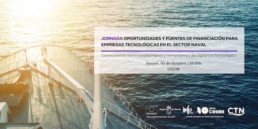 Jornada: Oportunidades y fuentes de financiación para empresas tecnológicas
