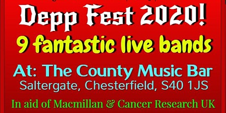Depp Fest 2020! FREE ENTRY! The County Music Bar, Saltergate, Chesterfield tickets