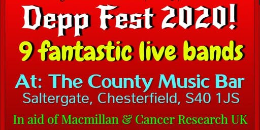 Depp Fest 2020! FREE ENTRY! The County Music Bar, Saltergate, Chesterfield