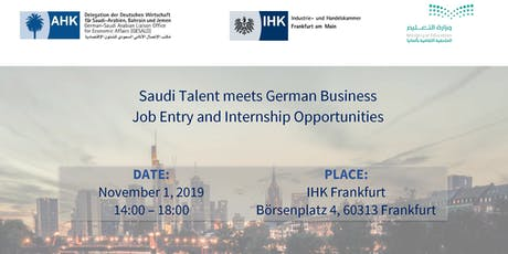 Saudi Talent Meets German Business - Job Entry and Internship Opportunities Tickets