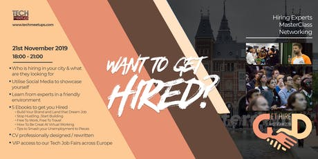 Get Hired Amsterdam 2019 tickets
