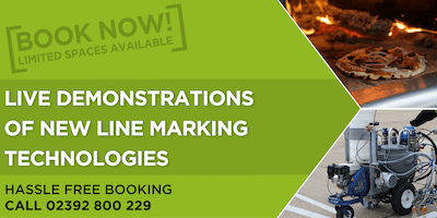Live demonstrations of new line marking technologies