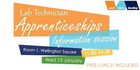 Lab Technician Apprenticeships - Information Session tickets
