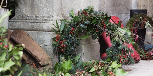 Christmas Wreath Making at the Mount Haven with Ruby Alice Floral Design