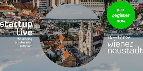 Startup Live Wiener Neustadt — boost your startup tickets