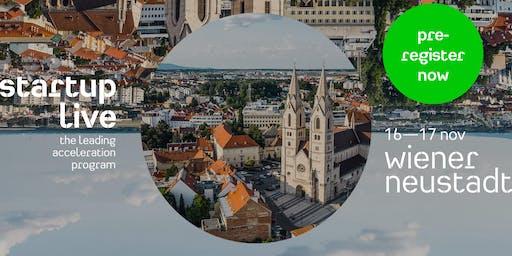Startup Live Wiener Neustadt — boost your startup
