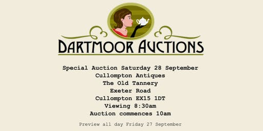 CULLOMPTON ANTIQUES - TWO DAY RETIREMENT SALE