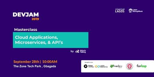 Masterclass:  Cloud Applications, Microservices, and API's