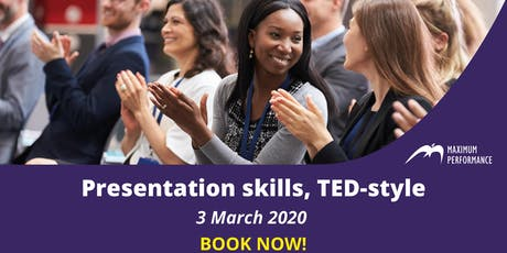Presentation skills, TED-style (3rd March 2020) tickets