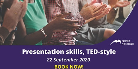 Presentation skills, TED-style (22nd September 2020) tickets