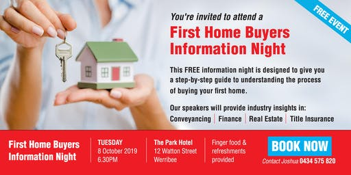 Free First Home Buyers Information Night