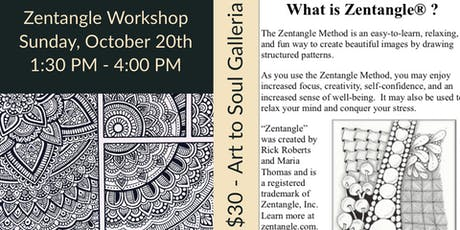 The Art of Zentangle for Beginners with CZT Instructor Angie Gittles tickets