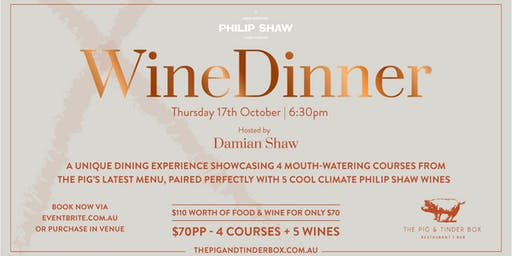 Philip Shaw Wine Dinner