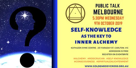 Public Talk: Self-Knowledge as the Key to Inner Alchemy tickets
