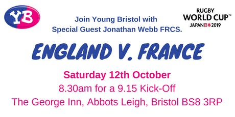 World Cup Rugby, England v. France with Special Guest Jonathan Webb FRCS tickets