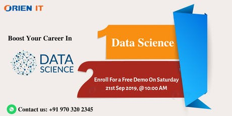 Attend For Free Data Science Training Demo on 21st  Sep 10 AM in Hyd. tickets