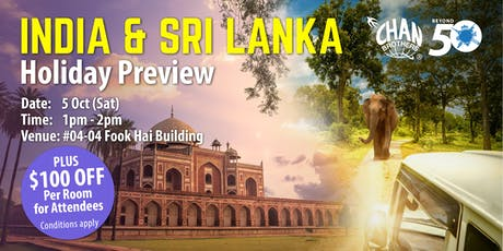 India & Sri Lanka Holiday Preview tickets