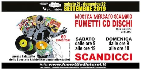 Mostra Mercato Scambio Fumetti CD Dischi Scandicci biglietti