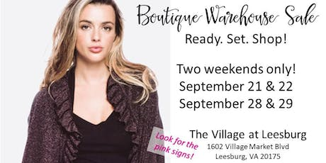 Leesburg Boutique Warehouse Sale tickets