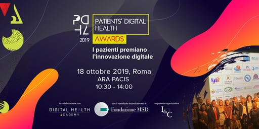 Patients' Digital Health Awards 2019 - Evento di premiazione