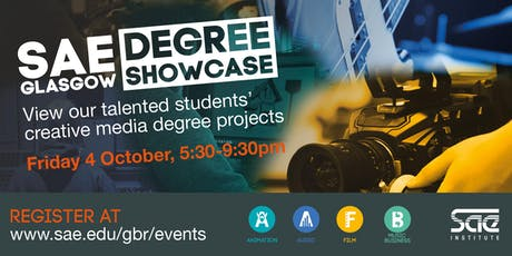 SAE Glasgow: Degree Showcase tickets