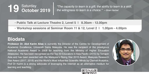 Public Talk on Lifelong and Lifewide Learning for All