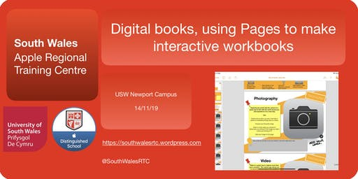 Digital books.  Using Pages to make interactive workbooks.