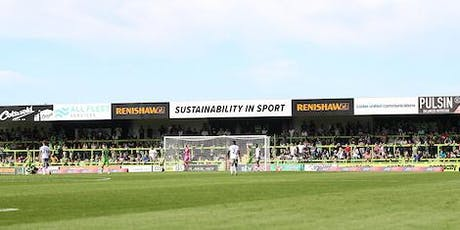 Vegan Runners match day experience FGR vs Crewe 26.10.19 tickets