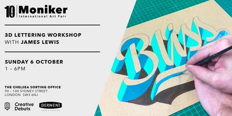 3D Lettering Workshop with James Lewis tickets