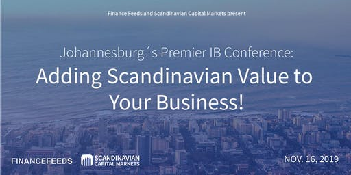 Johannesburg´s Premier IBs Conference: Add Scandinavian Value to Business