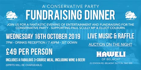 A Conservative Party Fundraising Dinner tickets