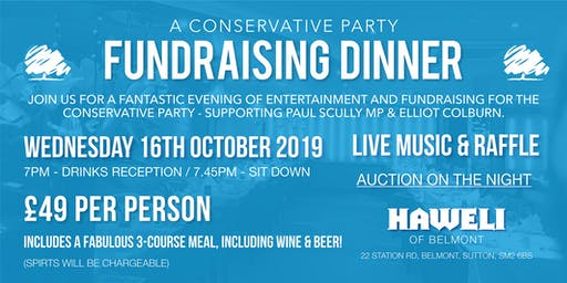A Conservative Party Fundraising Dinner