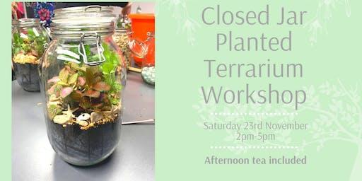 Closed Jar Planted Terrarium Workshop
