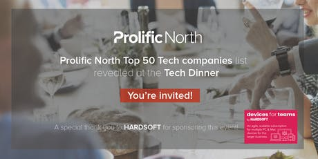 Prolific North Tech dinner tickets