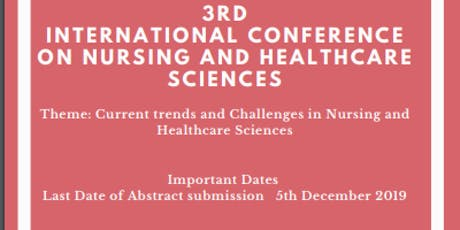 3rd International Conference On Nursing and Healthcare Science tickets