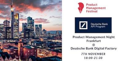 Product Management Night Frankfurt @Deutsche Bank Digital Factory