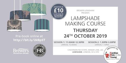 Farrow & Ball Lampshade Making Workshop at Brewers Lewisham