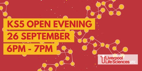 Liverpool Life Sciences UTC Sixth Form Open Evening, 6-7pm tickets