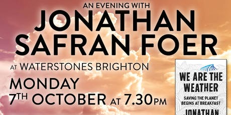 We Are the Weather with Jonathan Safran Foer tickets