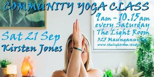 Community Yoga Class - with Kirsten Jones - Sat21Sep