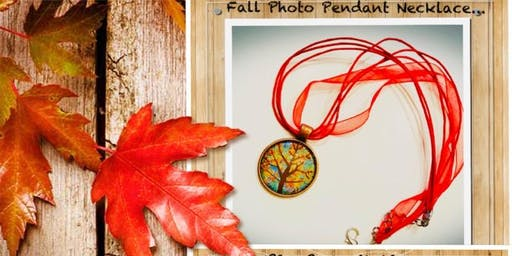 Fall Glass Photo Pendant Class at Sweetfrog. No Experience required!