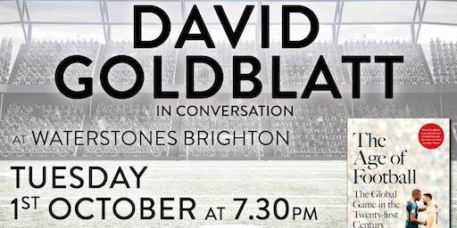 The Age of Football - David Goldblatt in conversation - in Brighton