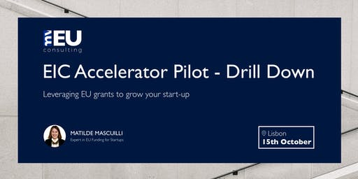EIC Accelerator Pilot - Drill Down
